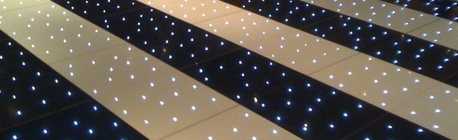Black and White Starlit Dance Floor