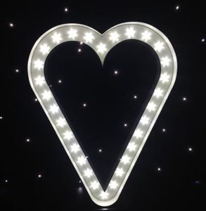 6ft Illuminated love heart