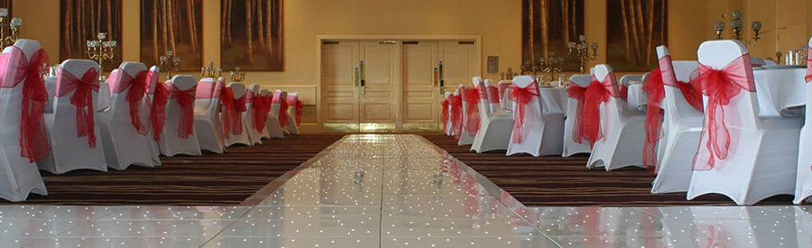 WHITE STARLIT WEDDING FLOOR & AISLE