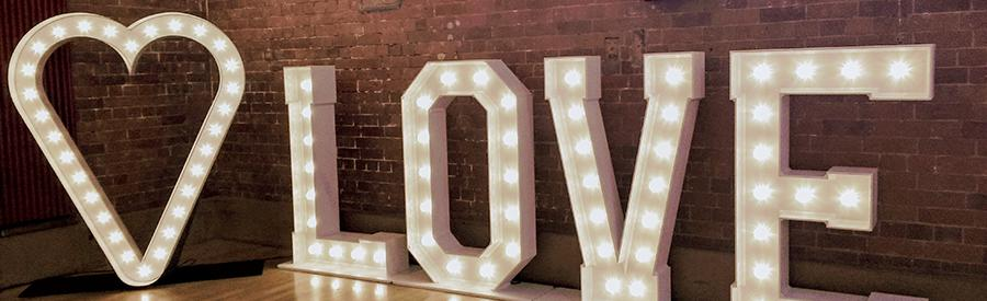 Illuminated love letters