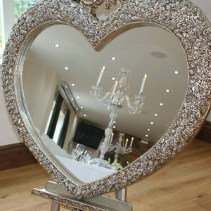Large Ornate Love Heart Mirror